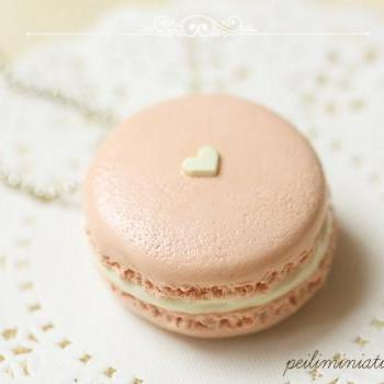 Barely There Pink Macaron Necklace